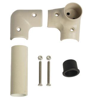 Komplett hörnbeslag PVC/A