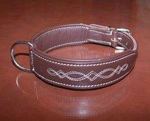 Läderhalsband, brun