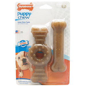 Nylabone Puppy Chicken Twin Pack / M