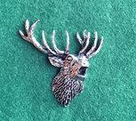 PIN Huvud Kronhjort (brölande)