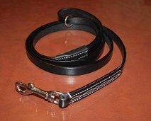 Läderkoppel, P svart 180 x 15
